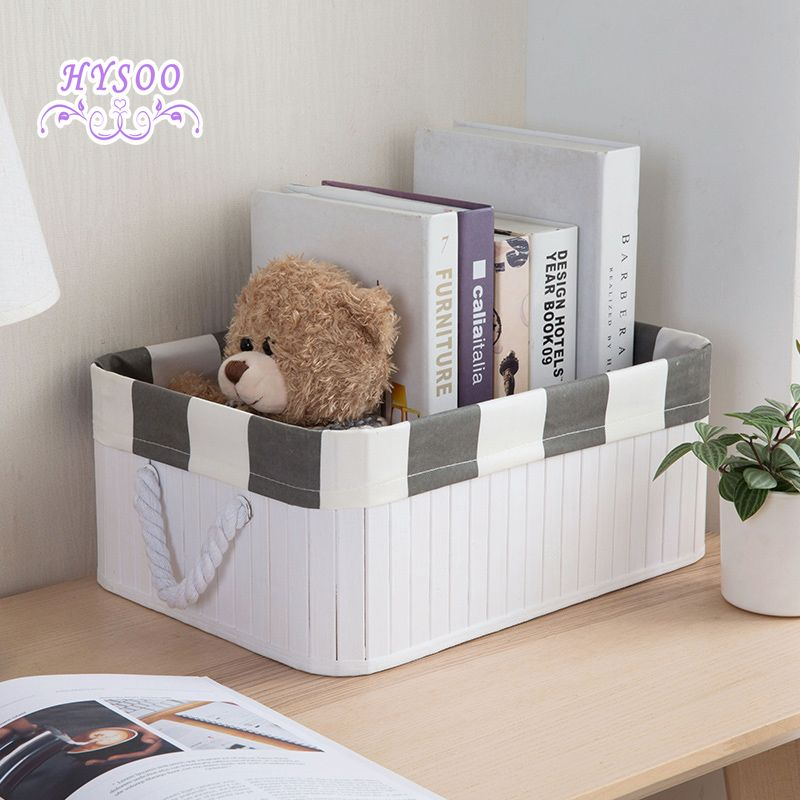 Bamboo Collections Basket Desktop Snacks Toys Storage Boxes Living Room Dews Basket Wardrobe Clothing Storage Box Affili Toy Storage Boxes Toy Storage Storage #storage #bin #for #living #room