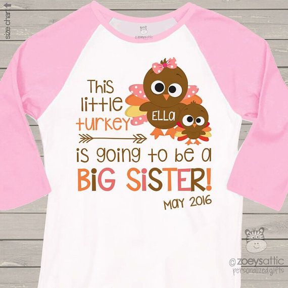 Thanksgiving Big Sister Shirt Thanksgiving Pregnancy Announcement