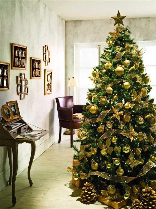 Decoración árbol De Navidad Destellos De Oro Arbres De Nadal