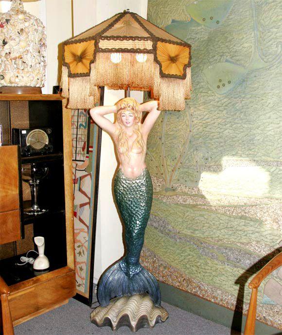 Mermaid Masthead Standing Lamp | Mermaid