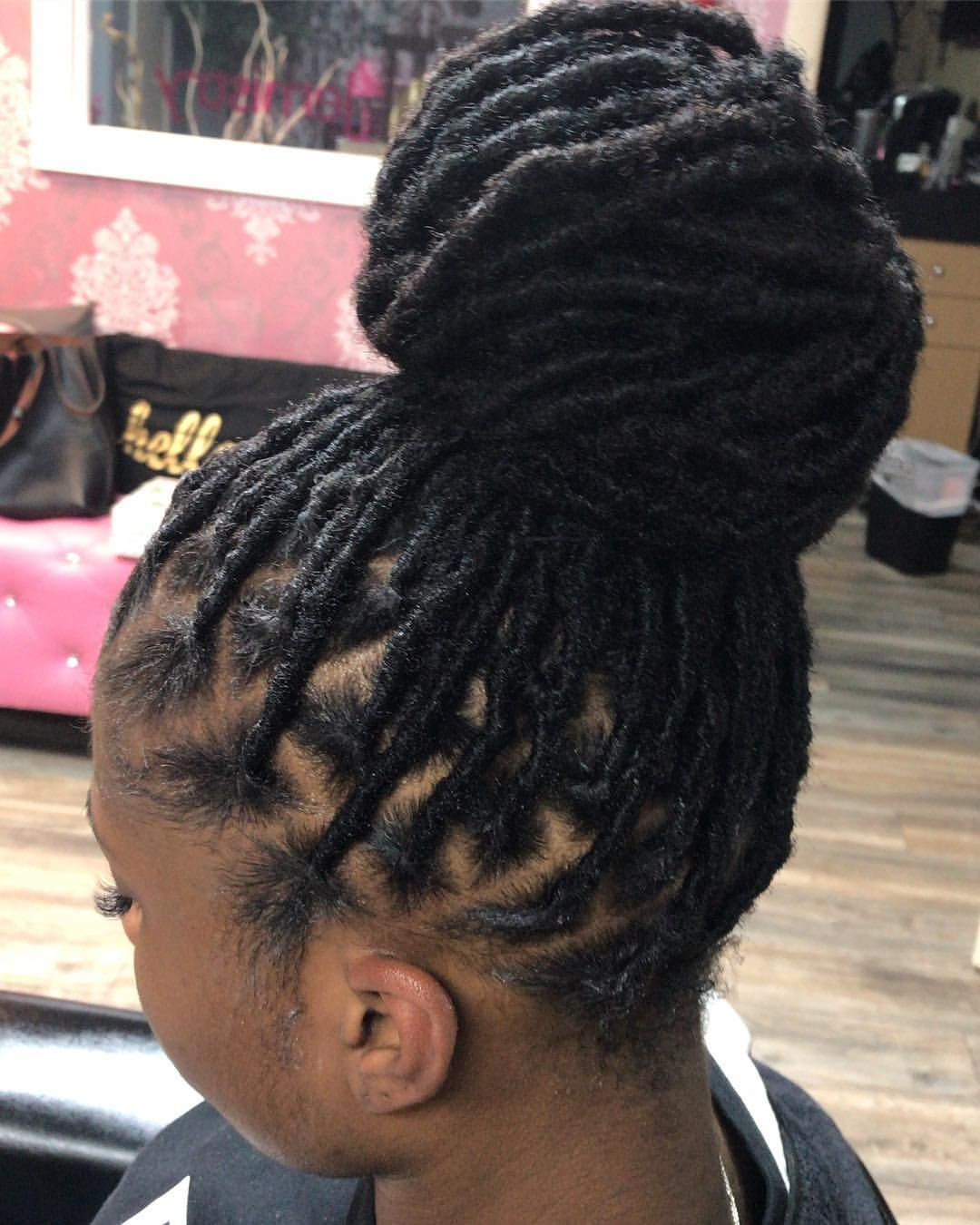 Permanent Loc Extensions! Using 100 human hair Get the