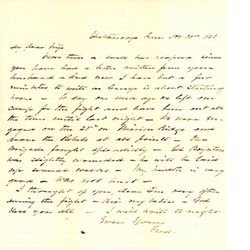 Van Derveer Letters Re Th Ohio Volunteers Infantry  Geo