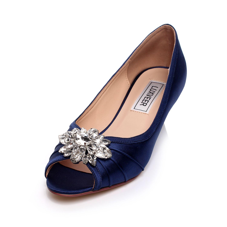 wedding pin comfortable unique bridal satin shoes blue comforter wedge design