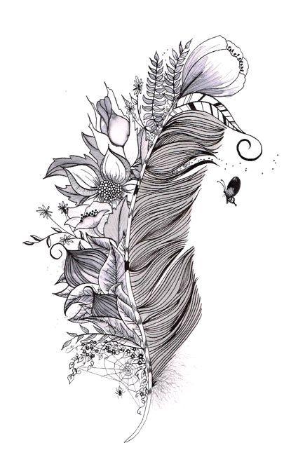 Epingle Par Nayyarett Aguirre Canova Sur Feathers Tatouage Plume Dessin Plume Tatouage De Plumes