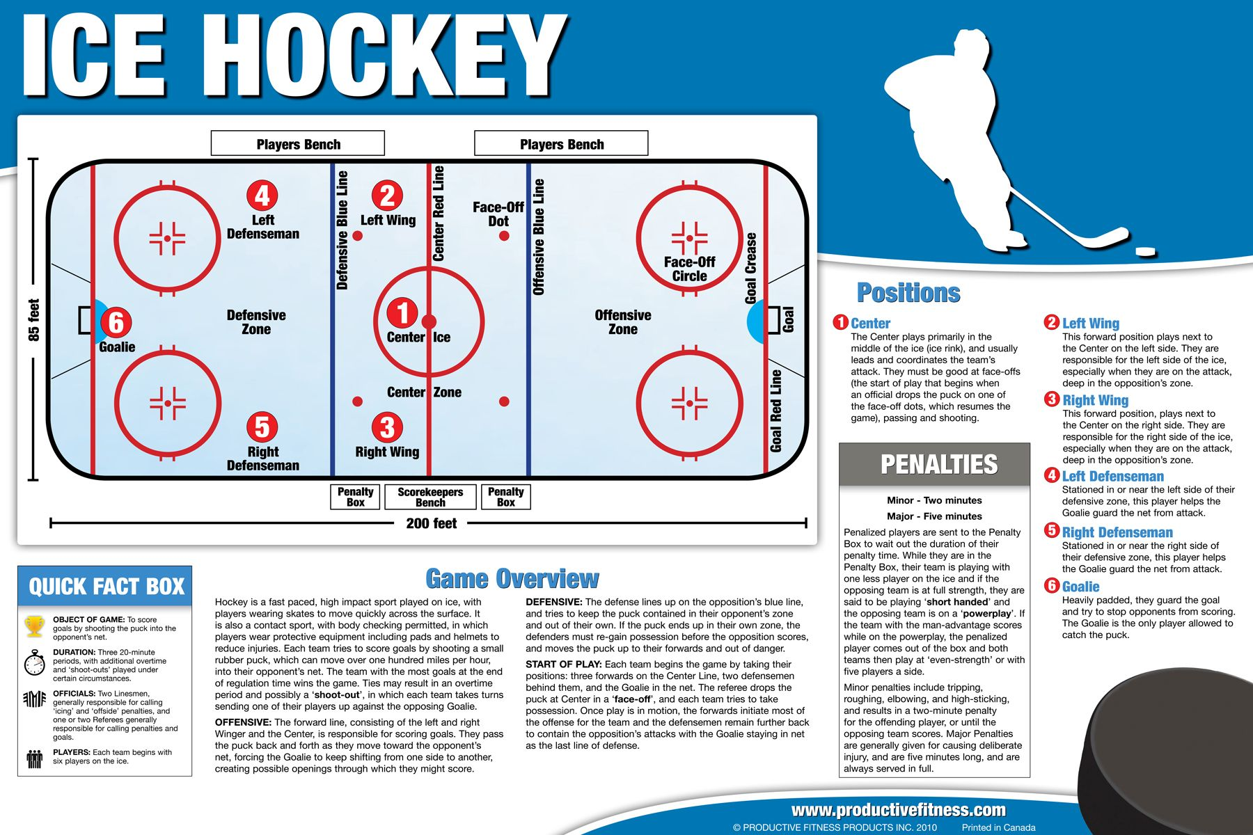 19.95 Our ice hockey overview poster is perfect to gain