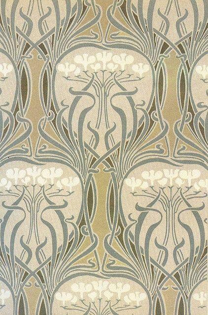 Art Nouveau Carta Da Parati Art Deco.Cream And Silver Houston Foodlovers Book Club Art Nouveau