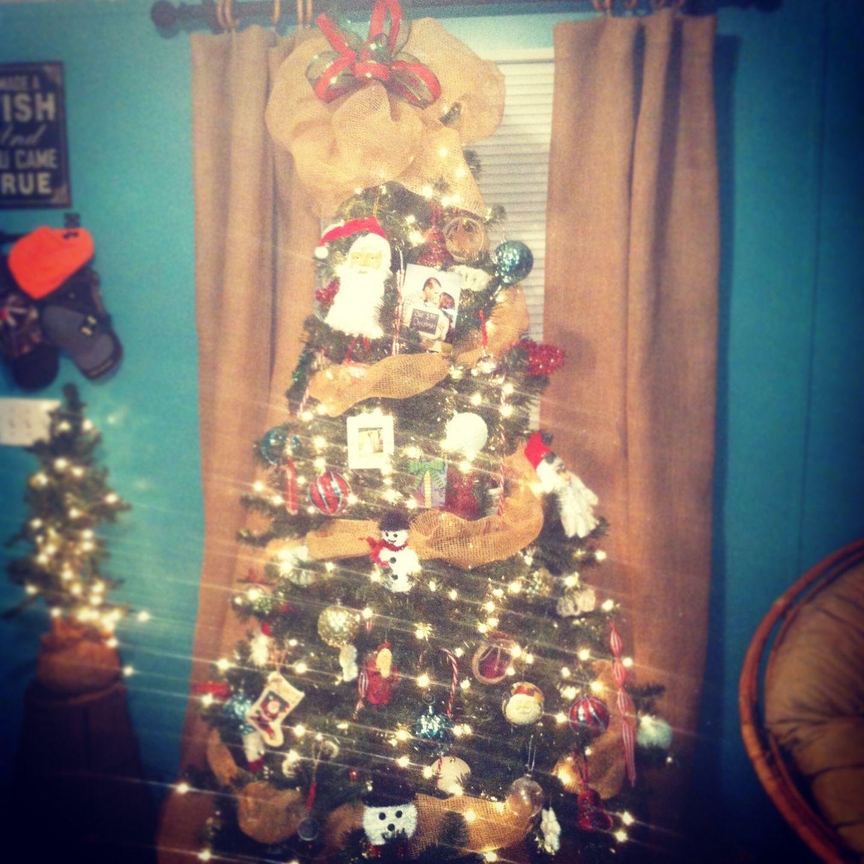 Diy burlap christmas tree rustic holiday decor my creations