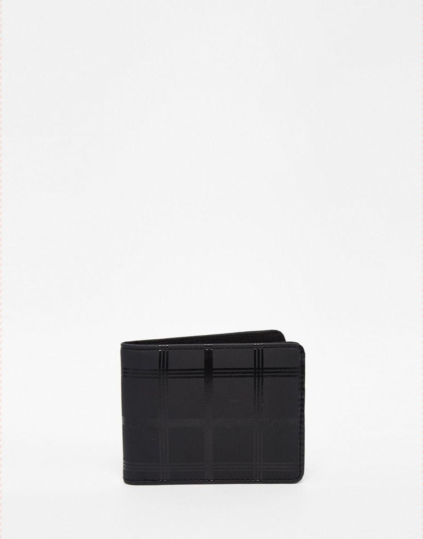 Portefeuille par asos modèle à rabat motif grilles compartiments pour cartes à lintérieur essuyer