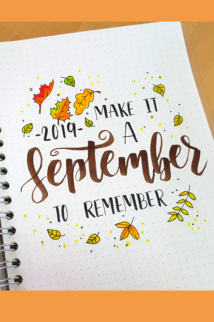 September 2019 Bullet Journal Setup #septemberbulletjournalcover