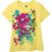 fc6b96d974e Just My Size by Hanes Womens Plus-Size Watercolor Graphic Scoopneck ...