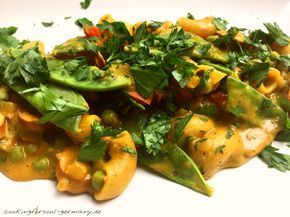 One-Pot-Pasta mit Vollkorn-Hörnchen und leichtem Frischkäse - Rezept zum Gesunden Abnehmen und gesunder Ernährung. Mit Curry Madras, Chakalaka, Petersilie #chakalakarezepte One-Pot-Pasta mit Vollkorn-Hörnchen und leichtem Frischkäse - Rezept zum Gesunden Abnehmen und gesunder Ernährung. Mit Curry Madras, Chakalaka, Petersilie
