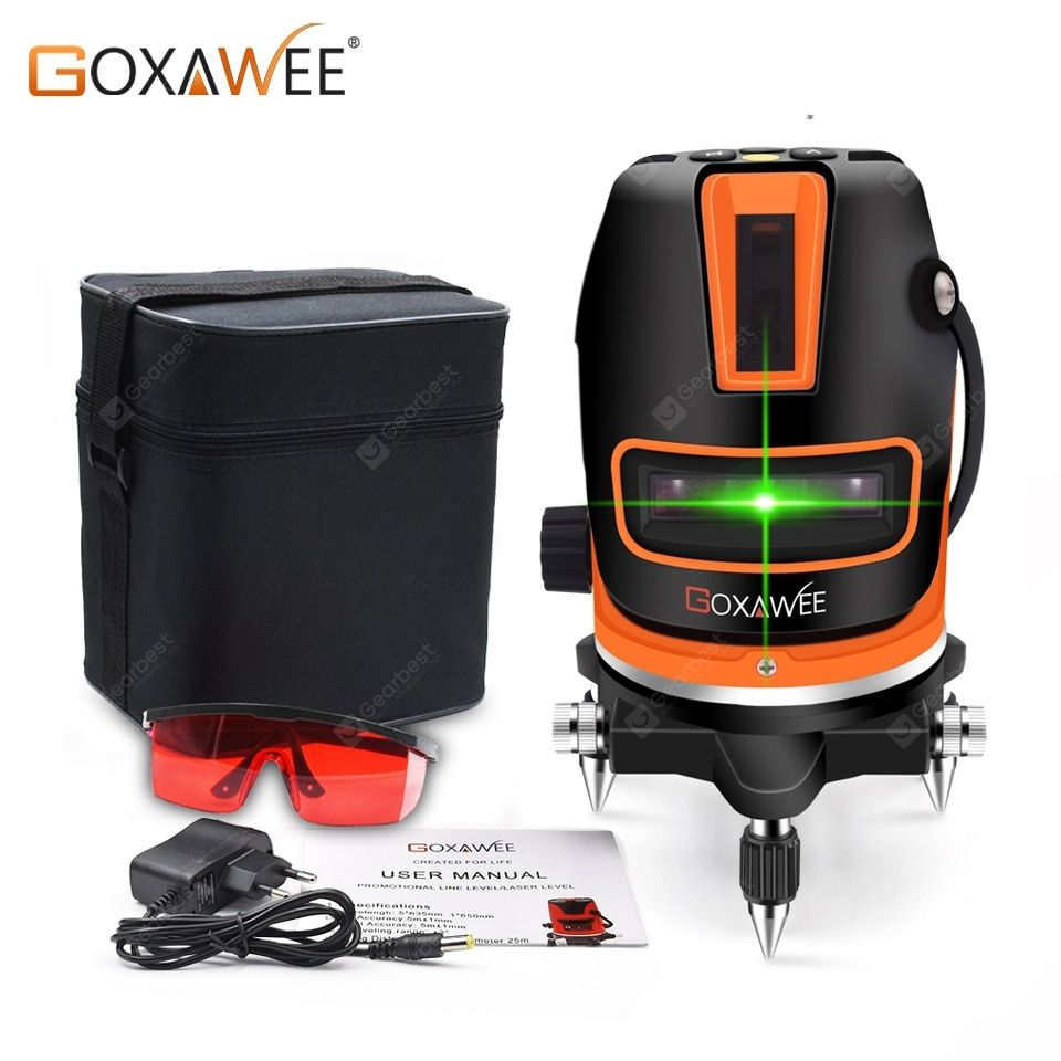 Goxawee Lines Laser Level 3d Self Leveling 360 Horizontal And Vertical Cross Green Laser Beam Line Sale Price Reviews Laser Levels Construction Tools Green Laser
