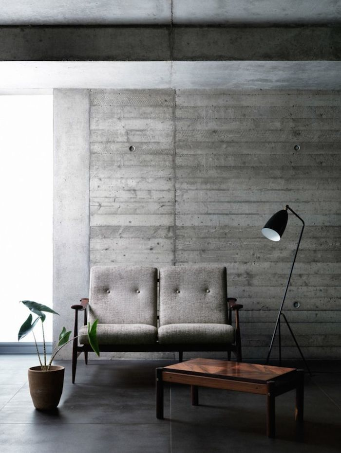 Wood Cast Concrete Interior Concrete Interiors Home Decor