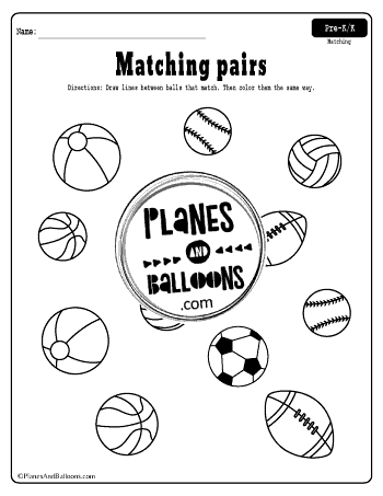 Matching Worksheets For Preschool And Kindergarten Free Printable Matching Worksheets Basic Math Preschool Worksheets