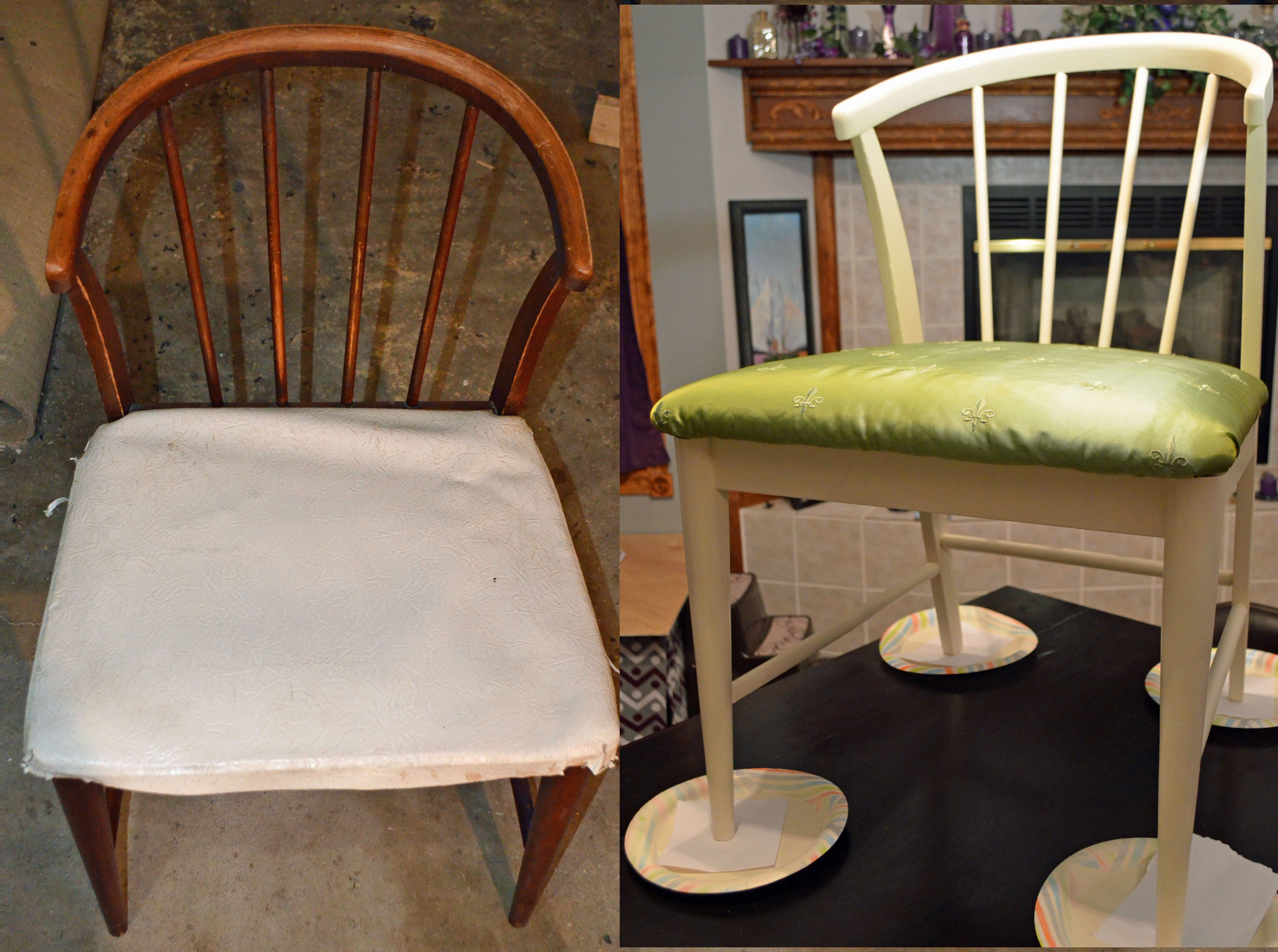 Goodwill chair makeover.  :)