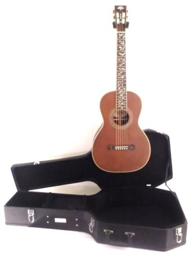 Washburn R320swrk All Solid Wood Parlor Size Acoustic Guitar Wcase
