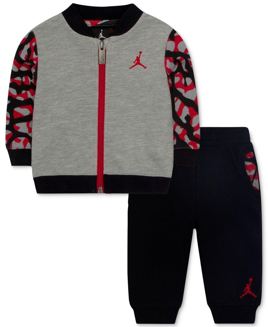 92a01326d00be3 Jordan Baby Boys  2-Piece Fly Jacket   Pants Set