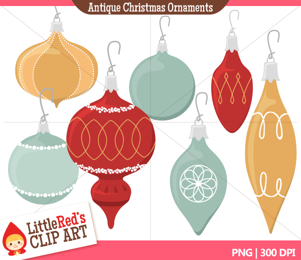 Vintage Christmas Ornament Clipart