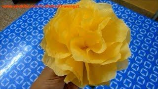 How to make a tissue paper flower very easily via youtube how to make a tissue paper flower very easily via youtube mightylinksfo