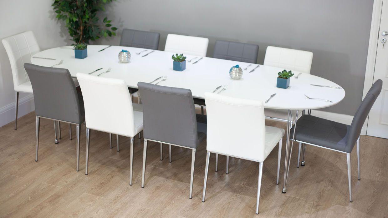 Ellie white oval extending table furnishings pinterest dining