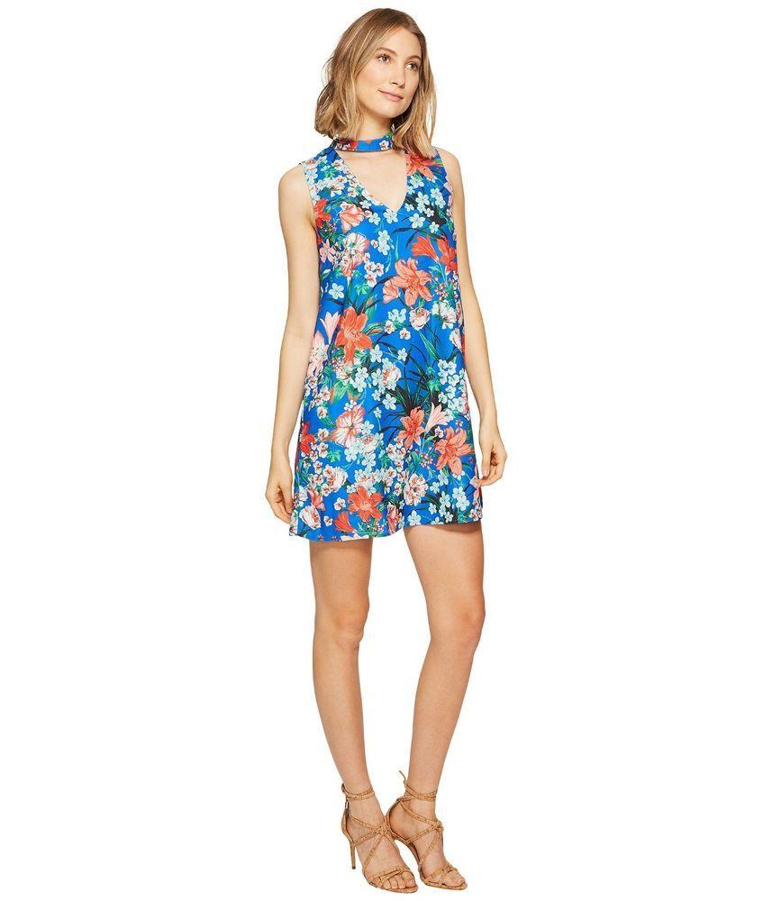 9041118ad06 XOXO Juniors Sportswear Womens Printed Sleeveless Choker Dress  XOXO ...