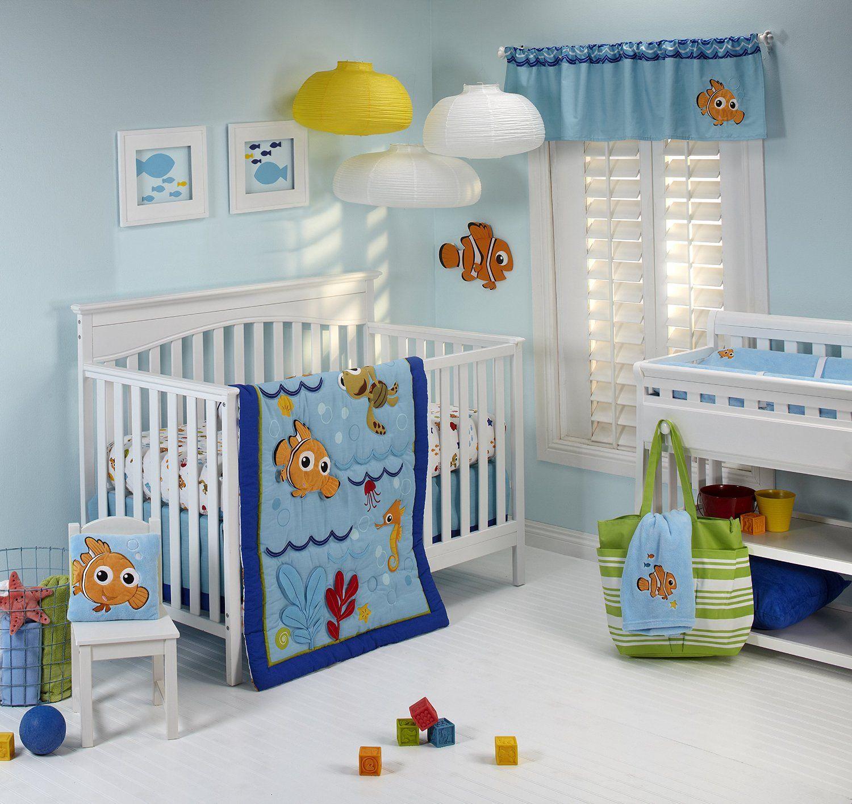 Finding Nemo Wavy Days 4 Piece Crib Bedding Set Nemo