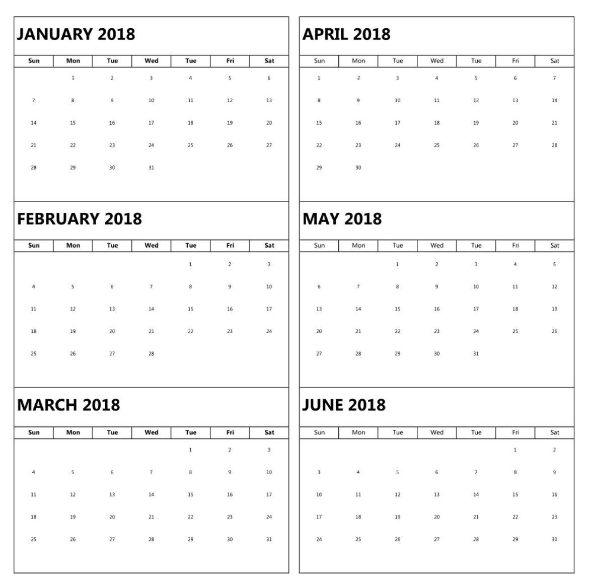 january-to-june-6-months-calendar-2018