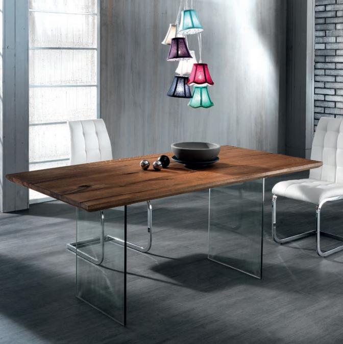 Tavolo Float legno massello e vetro nel 2019 Tavolo