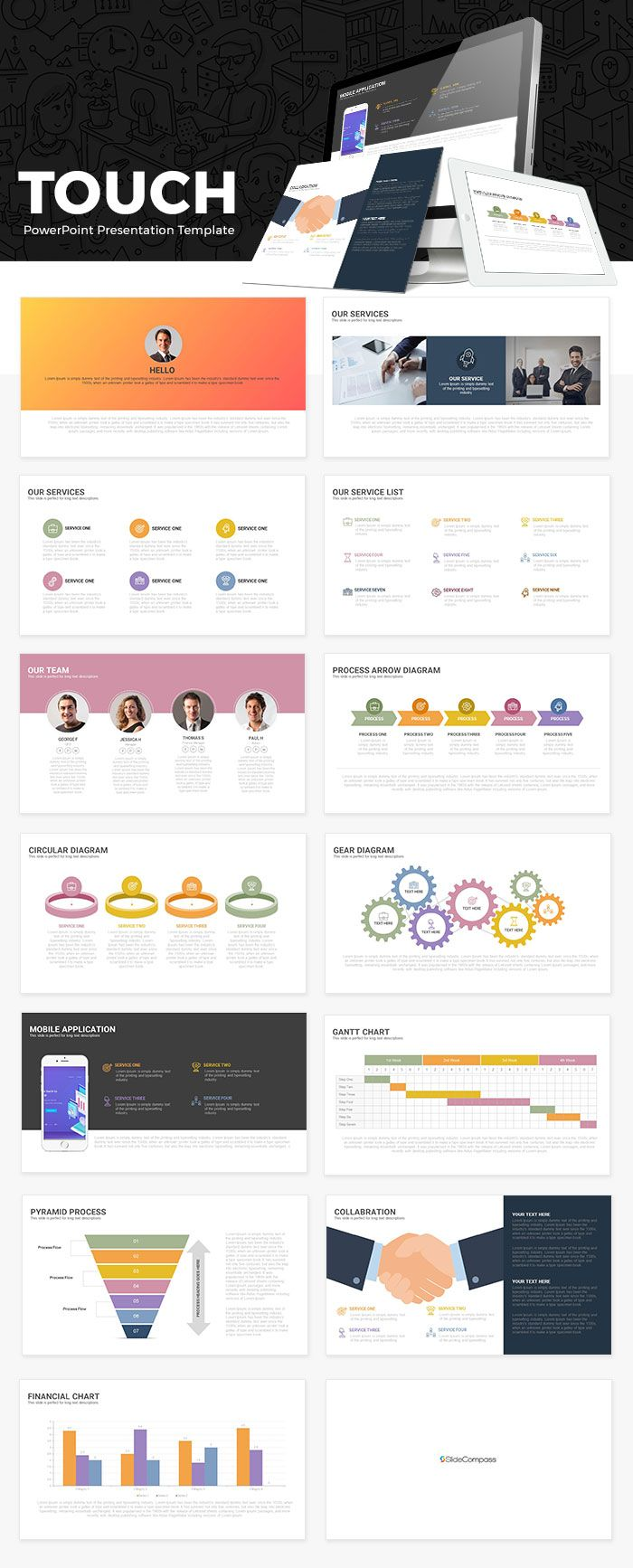 Touch free powerpoint presentation template ppt pinterest free touch free powerpoint presentation template is a multipurpose powerpoint template suitable for accounting management corporate business report and accmission Image collections
