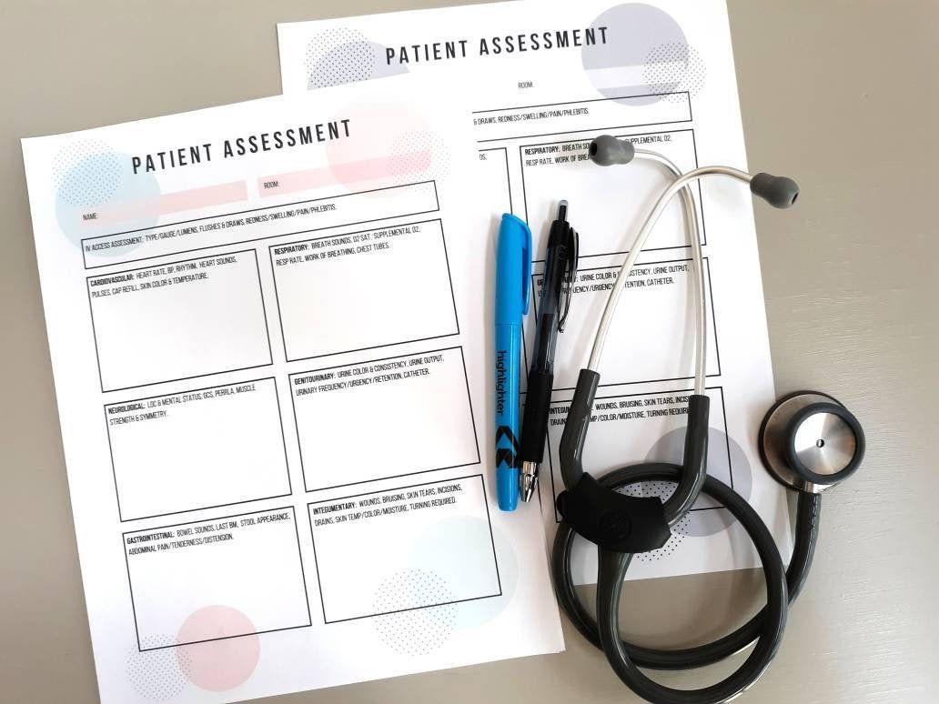 Physical Assessment Nurse Brain Sheet Nurse Report Sheet