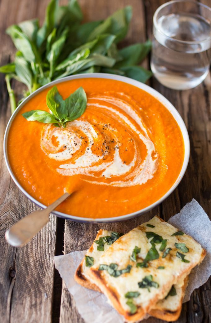 Creamy Tomato Soup With Basil Cheese On Toast Nicky S Kitchen Sanctuary Creamy Tomato Soup Food Delicious Soup