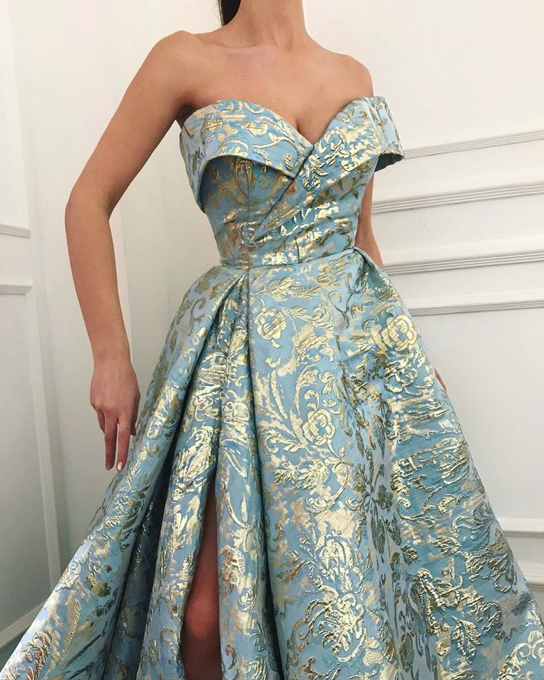28 Prom Dresses That Will Make You The Prom Queen - Off the shoulder ball gown dress, Prom dress #promdress #bluedress
