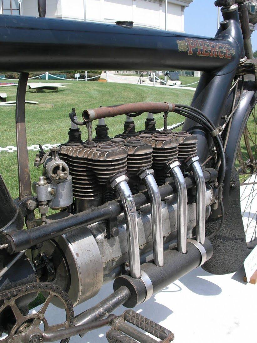 Original Pierce Arrow Inline Four Aircooled Decades Before Honda Classic Motorcycles Vintage Motorcycles Vintage Bikes