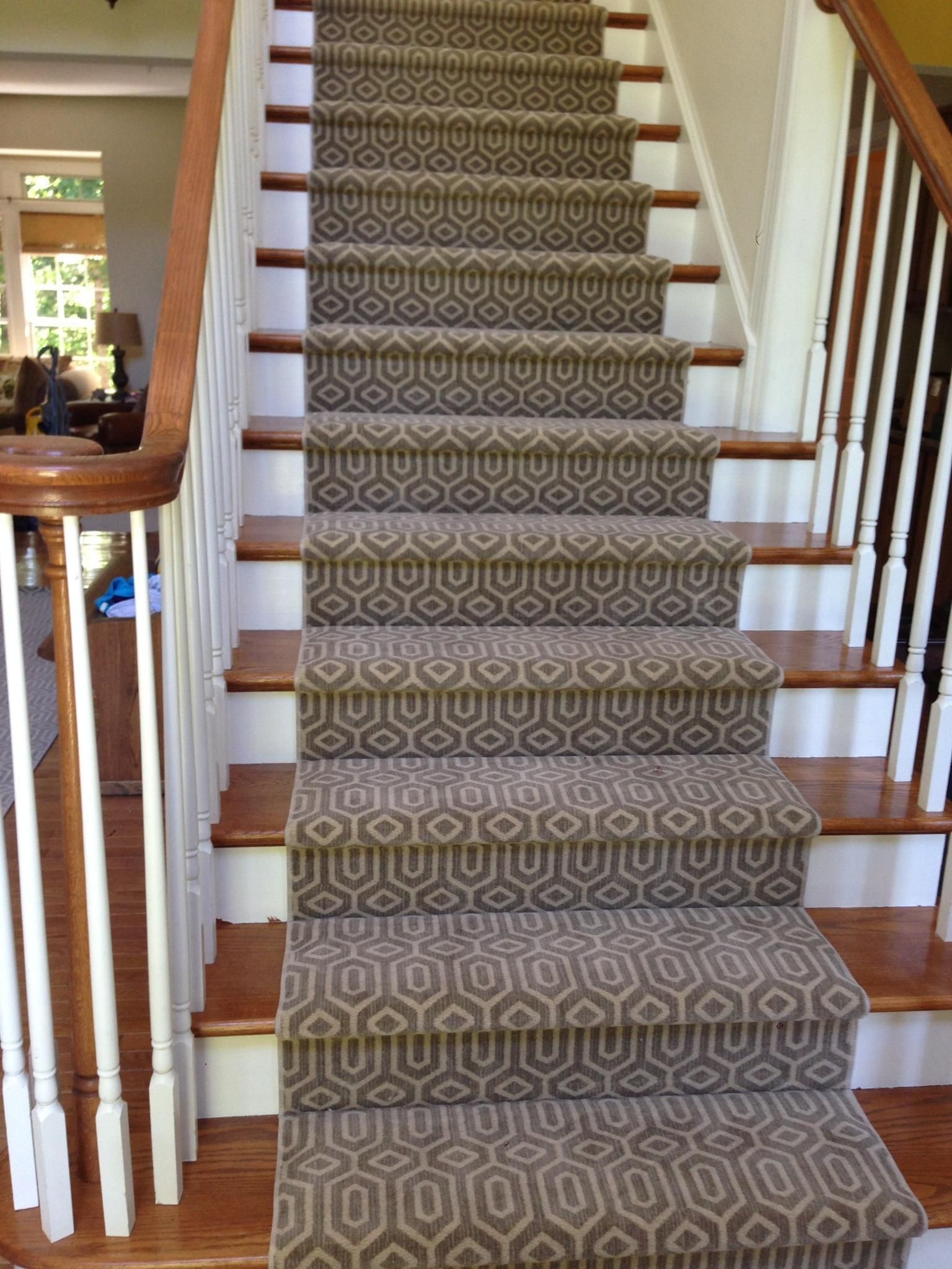 Custom Carpet Stair Runner. Simply Beautiful!
