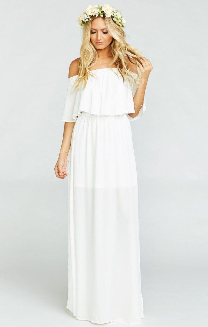 Hacienda Maxi Dress ~ Ivory Crisp | Pinterest | Kleid hochzeit ...