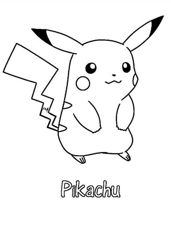 Pika Coloring Page