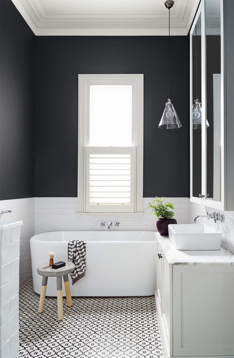 banheiros preto e branco | Baños | Pinterest | Interiors, Bath and House
