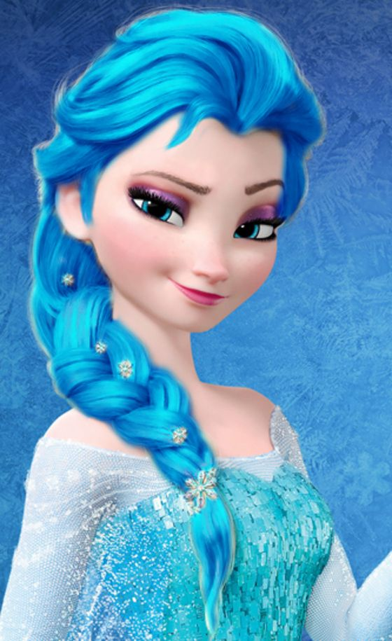 Snap Elsa Frozen The Hair Is With A Different Color By