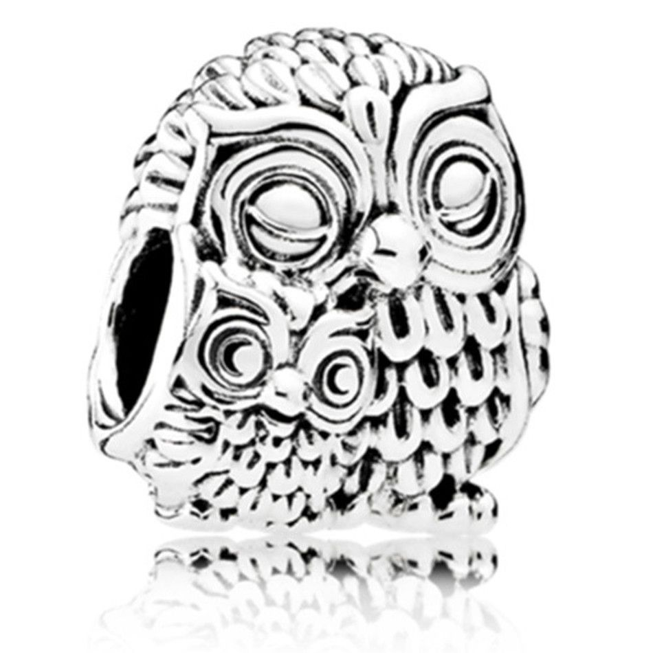 51ad89886 ... discount code for two owl animal beads european charm fit women pandora  bracelets 7d2e1 7b00f