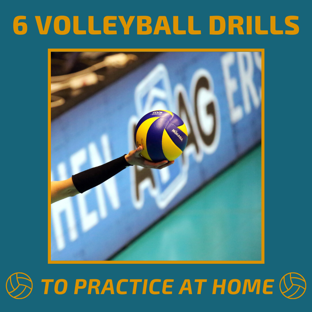 Volleyball Drills To Do At Home Without A Net Or Court In 2020 Volleyball Workouts Volleyball Drills Volleyball