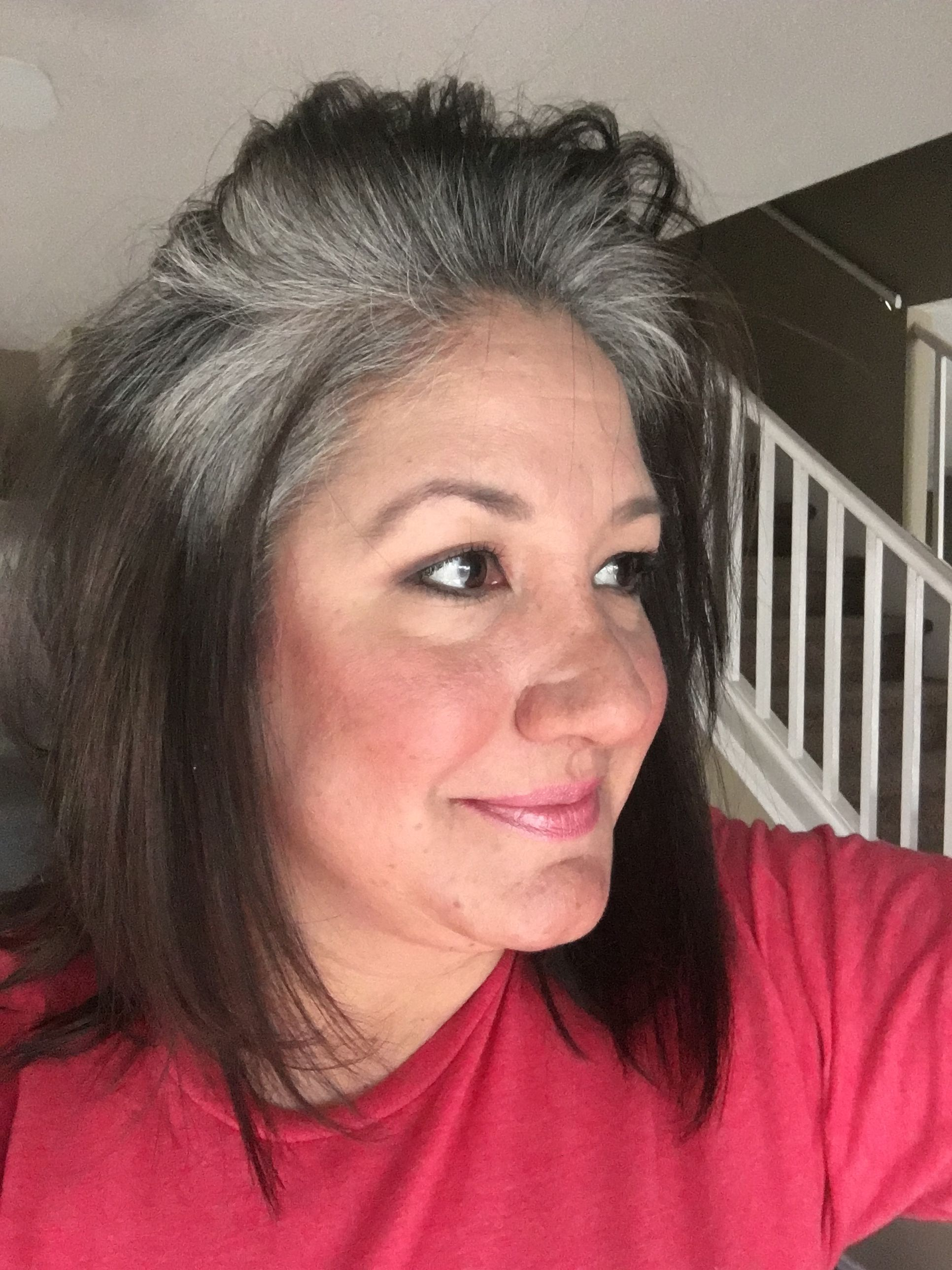 3 1 2 Months Of Growing Out My Grey Naturally Doesn T Feel Any Different Than My Natural Hair Did In Fac Dying Gray Hair Gray Hair Growing Out Long Gray Hair