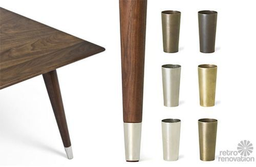 4 Places To Find Metal Shoes For Table Chair Legs Ferrules Sabots Modern Table And Chairs Mid Century Modern Furniture Brass Furniture Legs