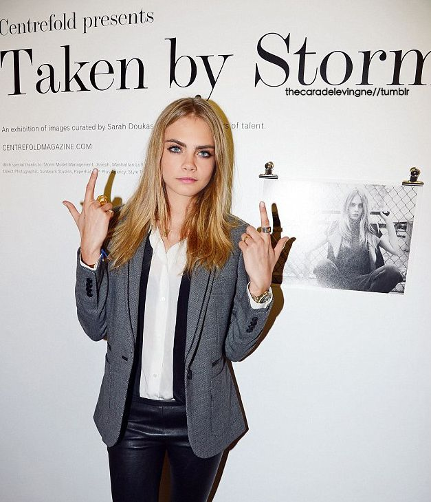 thecaradelevingne:  at the Taken By Storm fashion exhibition #3