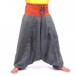 Aladinhose - grau/orange