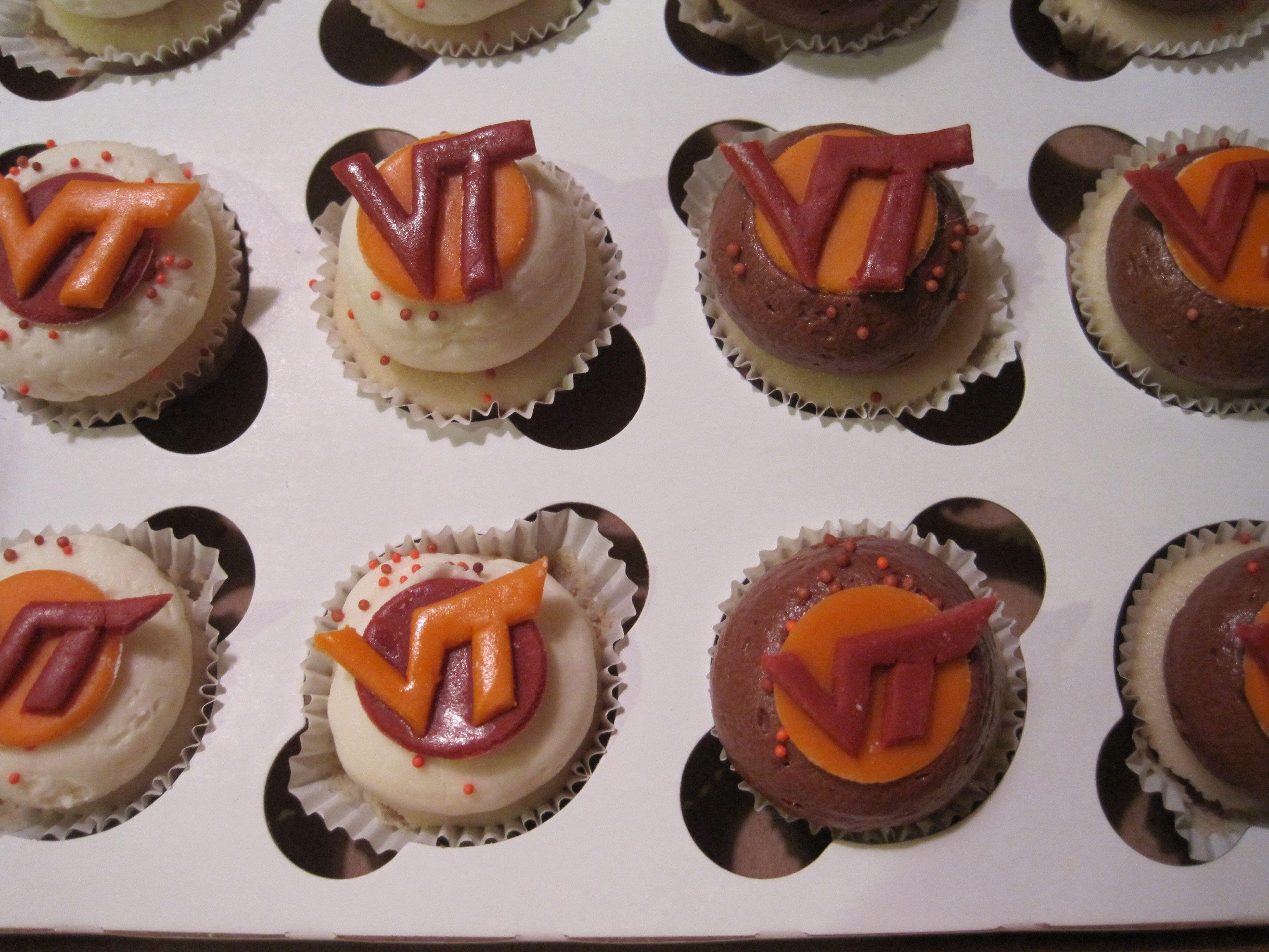 Virginia Tech cupcakes Graduation cupcakes, Sports