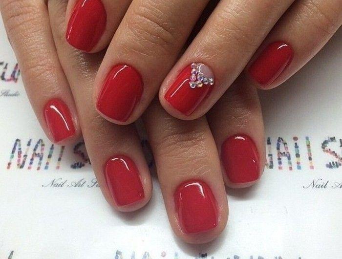 deco,ongle,gel,saint,valentin,nails,cristaux,triangle,transparent,vernis, rouge