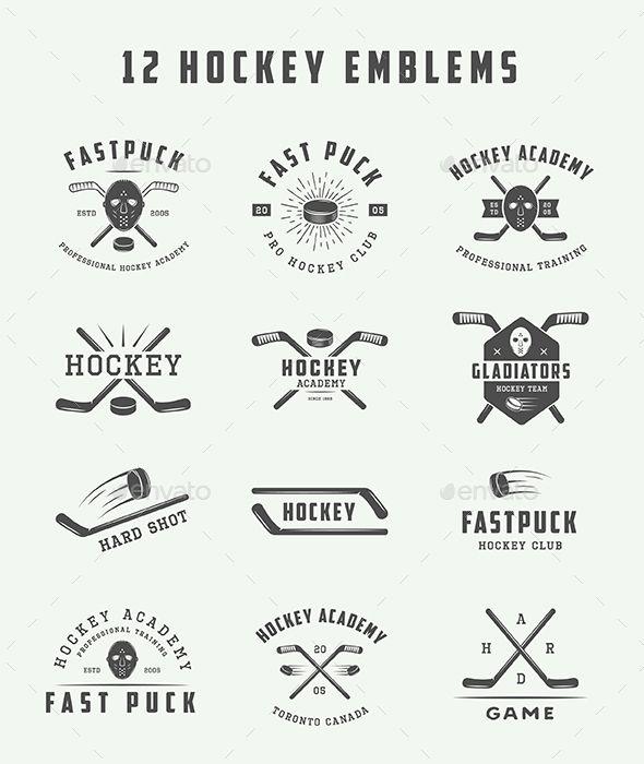 12 Hockey Emblems Hockey Tattoo Hockey Logos Hockey Crafts