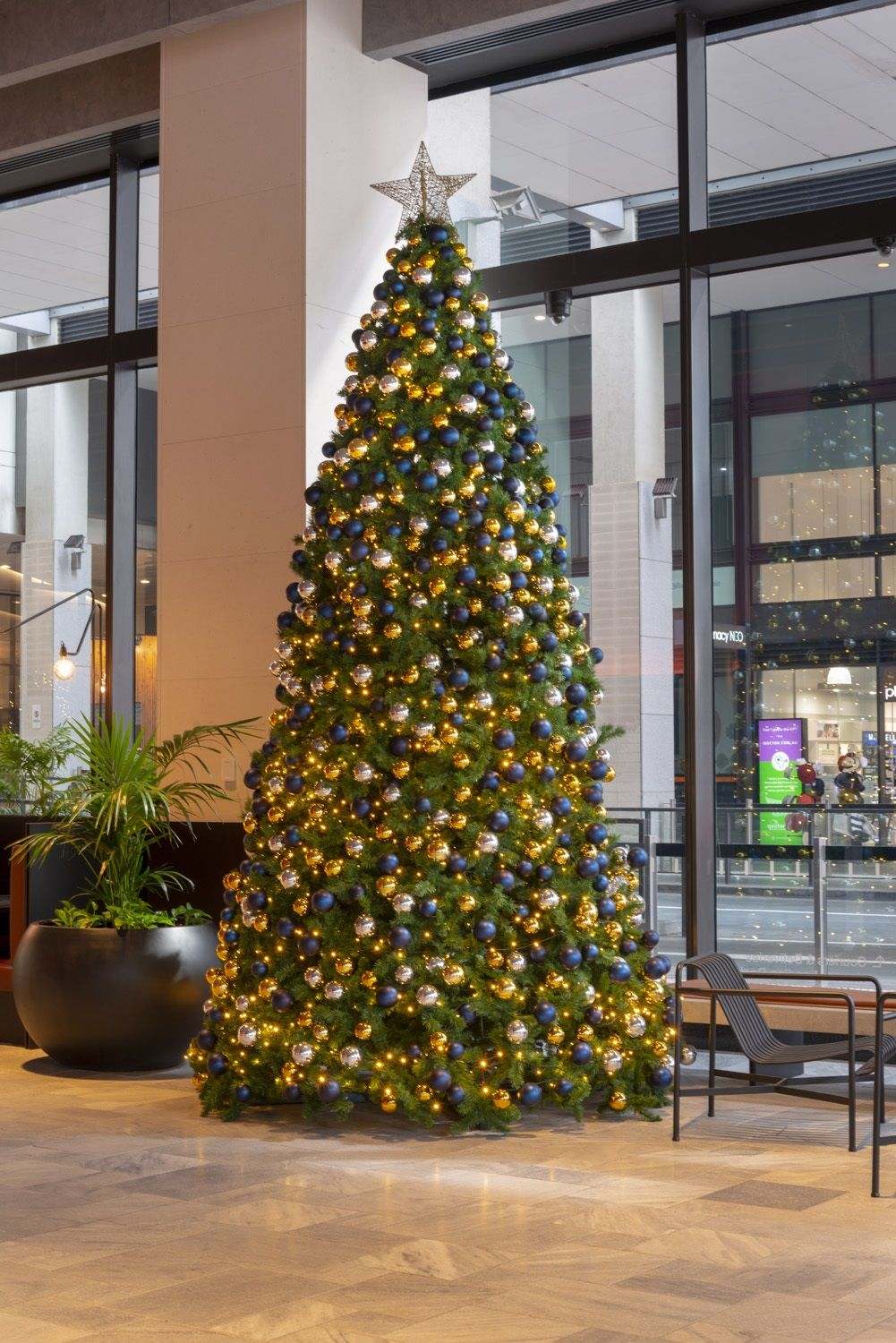 15 Ft Christmas Tree.From Our 2018 Collection 15ft Tree Decorated In Navy And