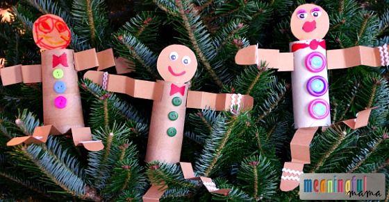 Toilet Paper Roll Gingerbread Man Craft Men Crafts Gingerbread