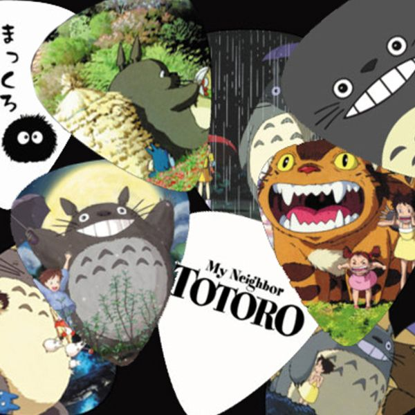 Pluck the strings of your guitar and rock the stage with Totoro and all his forest spirit friends. These eye-catching guitar picks includes a set of ten unique Totoro themed picks that will lend you and your garage band helping hand as you play. #totoro